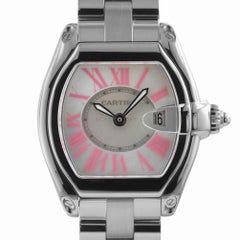 Cartier 2675 Roadster Pink Mother of Pearl Dial Quartz W62017V3 Swiss Watch