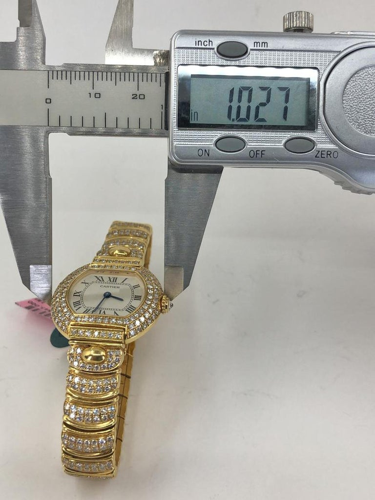 Cartier Diamond Watch In Good Condition For Sale In New York, NY