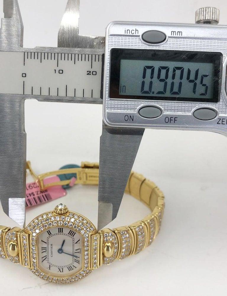 Women's Cartier Diamond Watch For Sale
