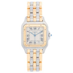 Cartier 3-Row Panther 2-Tone Steel and Gold Watch