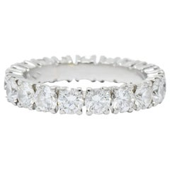 Cartier 3.05 Carat Diamond Platinum Eternity Band Stack Ring