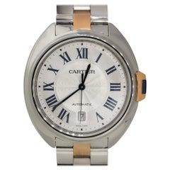 Cartier 3850 Clé de Cartier 18k Two Tone Silver Dial Watch
