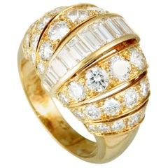 Cartier 3.86 Carat Diamond 18 Karat Yellow Gold Ring