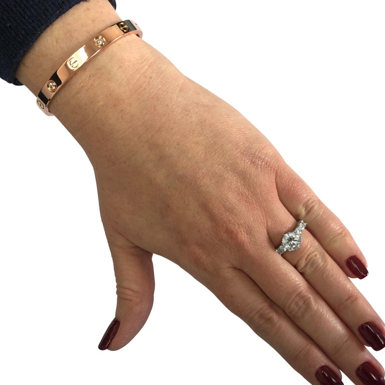 Modern Cartier 4 Diamond Love Rose Gold Bangle