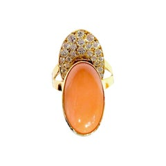 Cartier 70' Coral and Diamonds Ring