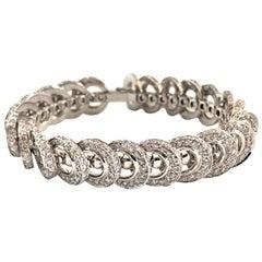 Cartier A L'Infini 18 Karat White Gold Diamond Flip Bracelet