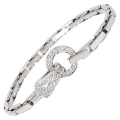 Cartier Agrafe Diamond Bracelet in 18 Karat White Gold 1.13 Carat