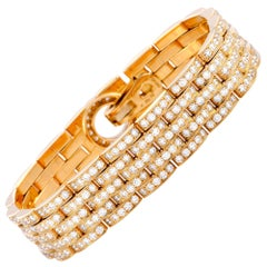 Cartier Agrafe Diamond Rose Gold Bracelet