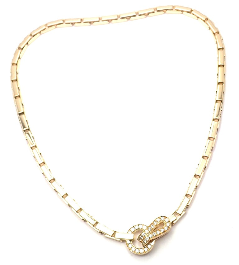 18k Yellow Gold Diamond Agrafe Bracelet by Cartier. With 32 round brilliant cut diamonds G color, VVS1 clarity total weight approx. 1ct Details: Length: 16.5