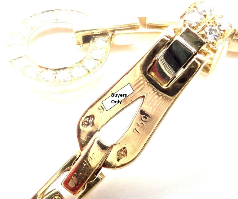 Cartier Agrafe Diamond Yellow Gold Necklace For Sale 4