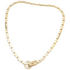 Cartier Agrafe Diamond Yellow Gold Necklace