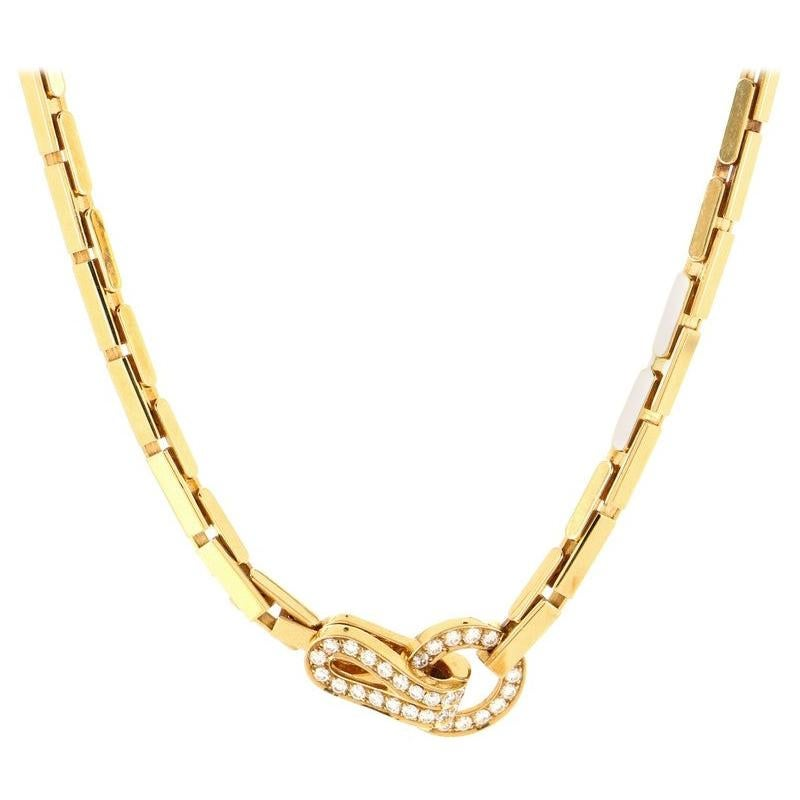 Cartier Agrafe Necklace 18K Yellow Gold and Diamonds