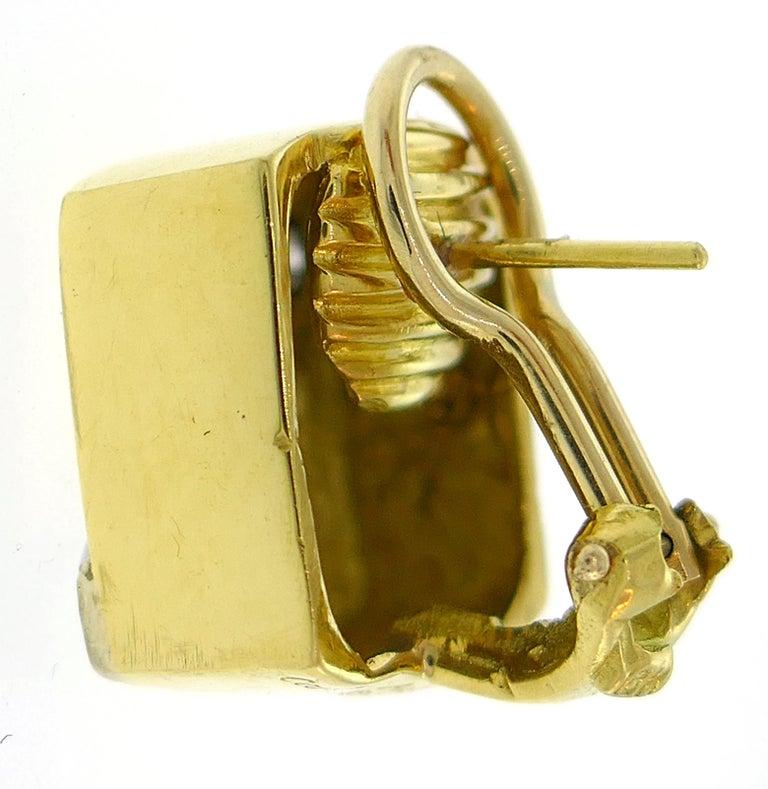 Women's Cartier Aldo Cipullo Diamond Yellow Gold Earrings, 1971