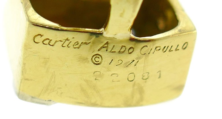 Cartier Aldo Cipullo Diamond Yellow Gold Earrings, 1971 2