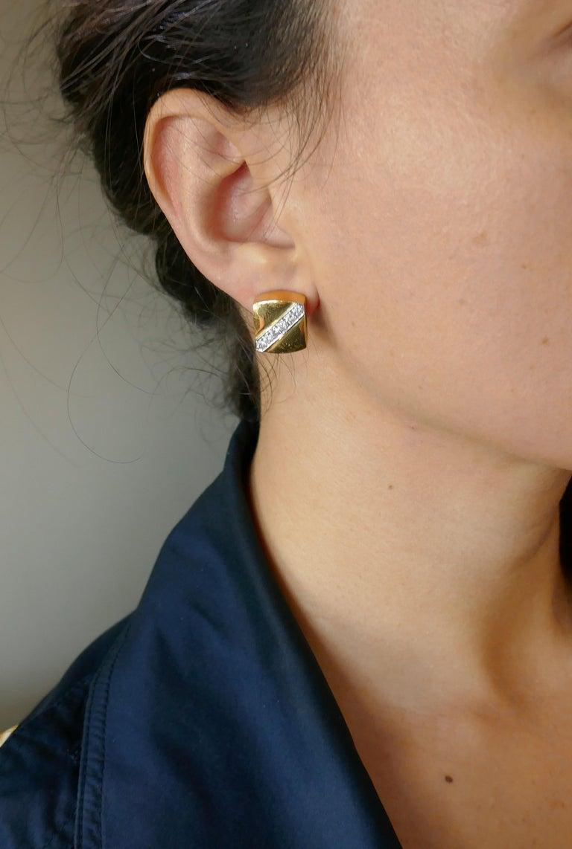 Cartier Aldo Cipullo Diamond Yellow Gold Earrings, 1971 4