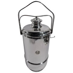 Cartier American Modern Sterling Silver Portable Picnic Ice Bucket