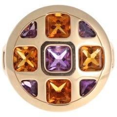 Cartier Amethyst Citrine 18 Karat Gold Ring