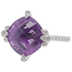 Cartier Amethyst Diamond Lotus Ring