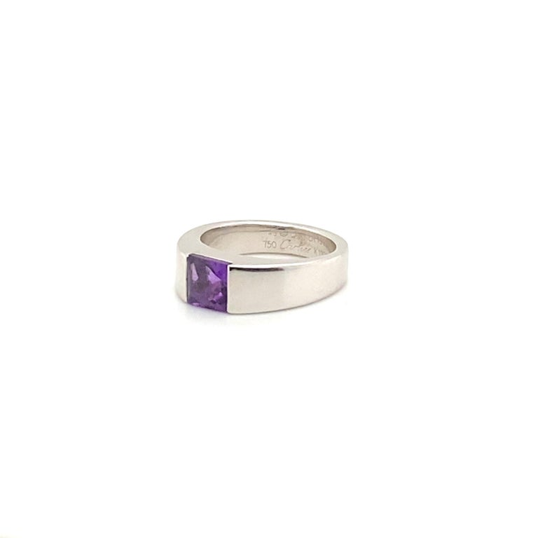 Square Cut Cartier Amethyst Ring For Sale