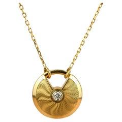 Cartier Amulette de Cartier 18K Gold Diamond Necklace