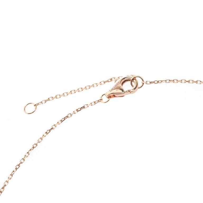 Women's Cartier Amulette De Cartier Malachite 18k Rose Gold XS Pendant Necklace For Sale