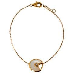 Cartier Amulette de Cartier Mother of Pearl Diamond 18K Yellow Gold XS Bracelet