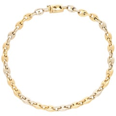 Cartier Anchor Link Bracelet in 18 Karat Yellow and White Gold