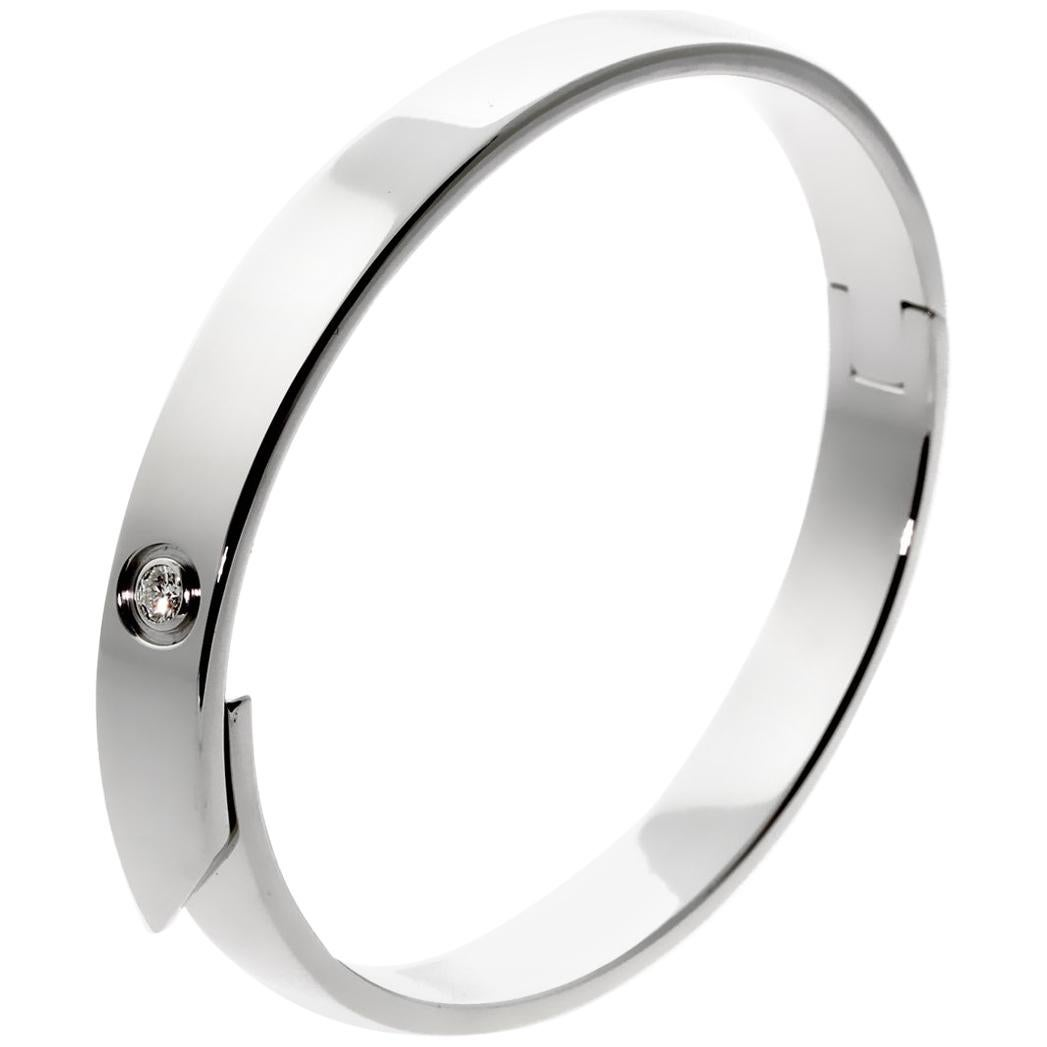 Cartier Anniversary Diamond Bangle White Gold Bracelet