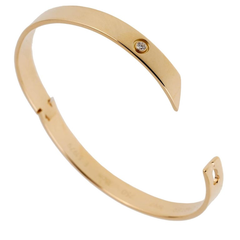 Cartier Anniversary Yellow Gold Diamond Bangle Bracelet 3