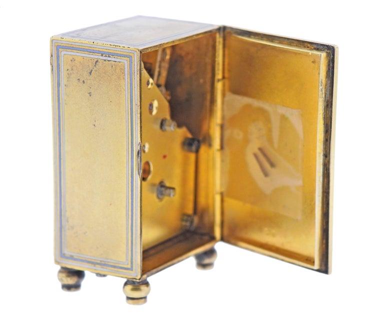 Cartier Antique Sterling Silver Desk Travel Clock For Sale 1