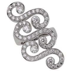 Cartier Arabesque White Gold Diamond Cocktail Ring