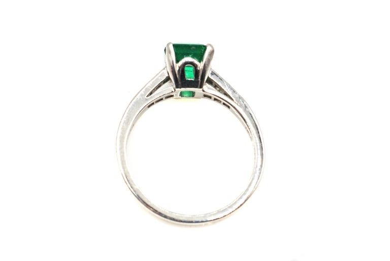 Cartier Art Deco AGL Certified Rare No Oil Emerald Carat Platinum Diamond Ring In Excellent Condition For Sale In New York, NY