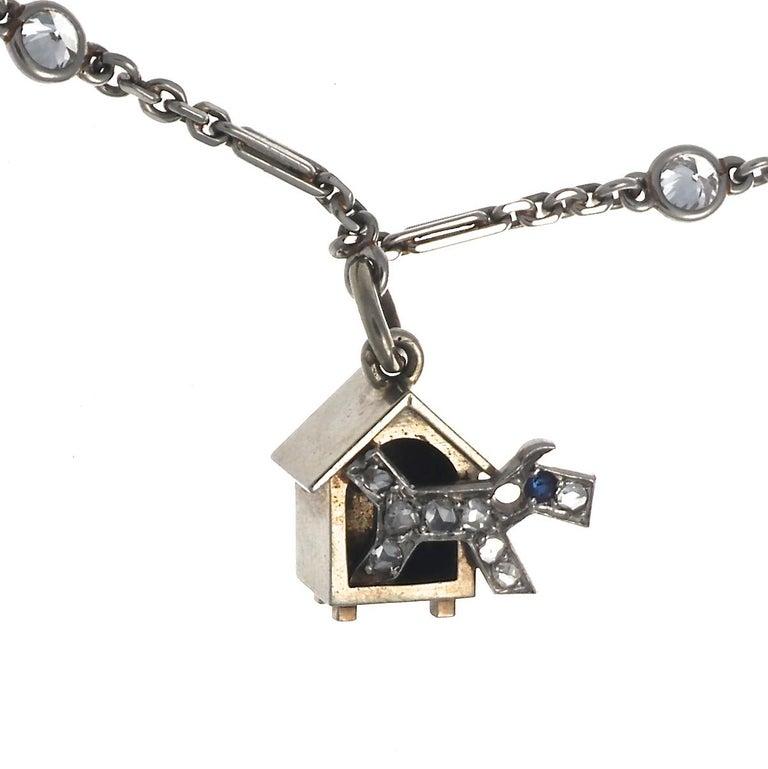 Women's Art Deco Charm Bracelet For Sale