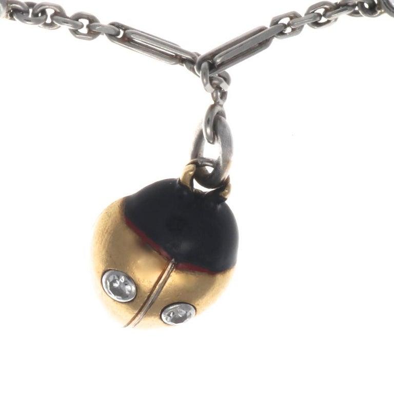 Art Deco Charm Bracelet For Sale 2