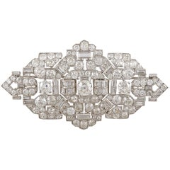 Cartier Art Deco Diamond Brooch