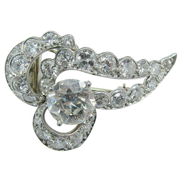 Cartier Art Deco Style Diamond Pin