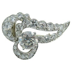Cartier Art Deco Diamond Pin