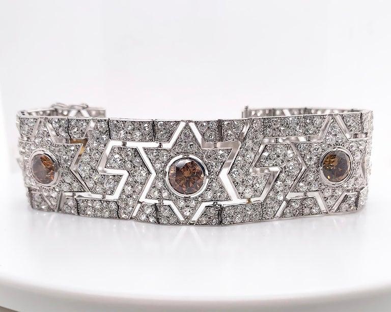 Cartier Art Deco Diamond Platinum Bracelet For Sale 1