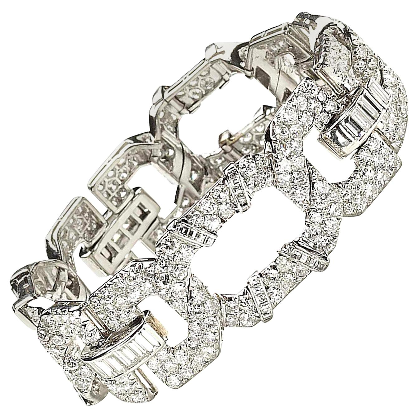 Cartier Art Deco Diamond Platinum Bracelet