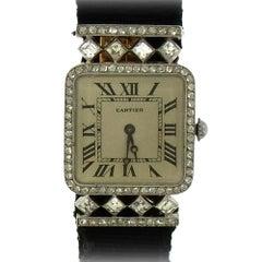 Cartier Art Deco Diamond Wristwatch