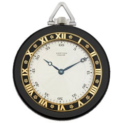 Cartier Art Deco Onyx Pocket Watch