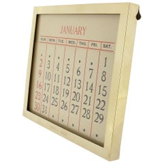 Cartier Art Deco Period 14 Karat Gold Desk Calendar or Picture Frame