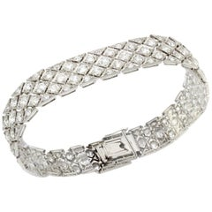 Cartier Art Deco Platinum Ladies Diamond Bracelet, 1920s