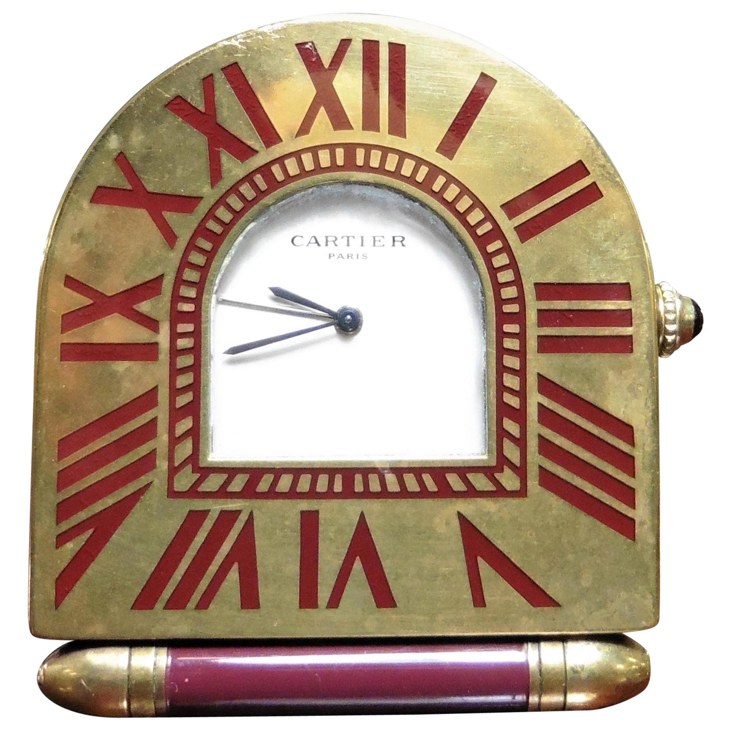 Cartier Art Deco Style Travel Clock