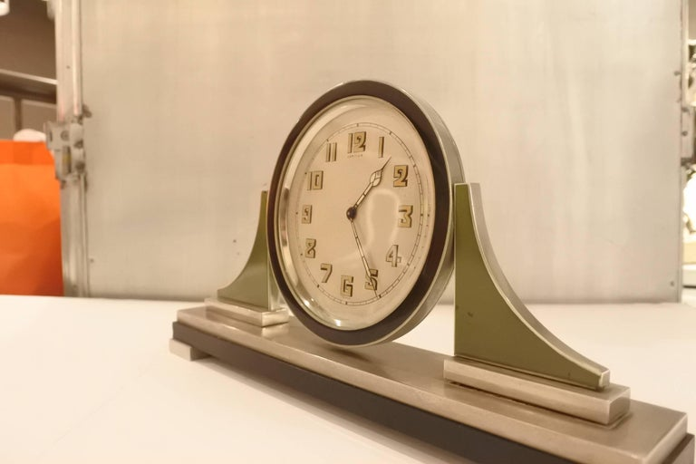 Modern Cartier Art Deco Table Clock For Sale