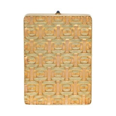 Cartier Art Deco Woven Two-Color Gold Mirrored Compact / Pill Box