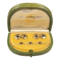 Cartier Art Deco Yellow Gold and Sapphire Tuxedo Dress Set, 1940