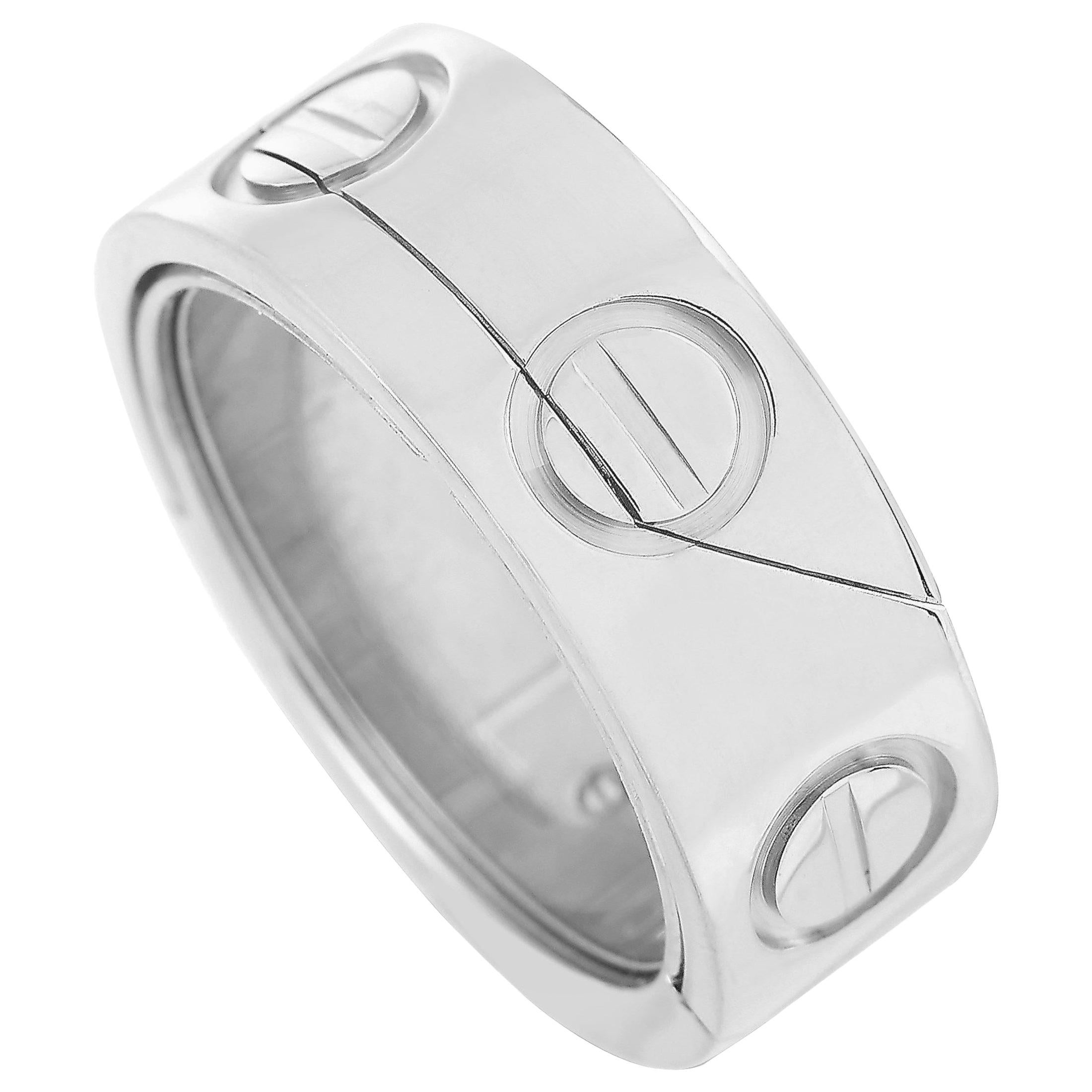 Cartier Astro LOVE 18 Karat White Gold Ring