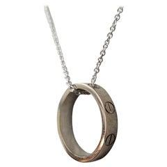 Cartier Authentic 18 Karat White Gold Love Ring