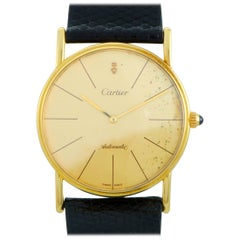 Cartier Automatic Yellow Gold Watch